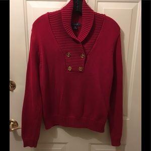 Chaps cotton sweater turtle neck sz XL